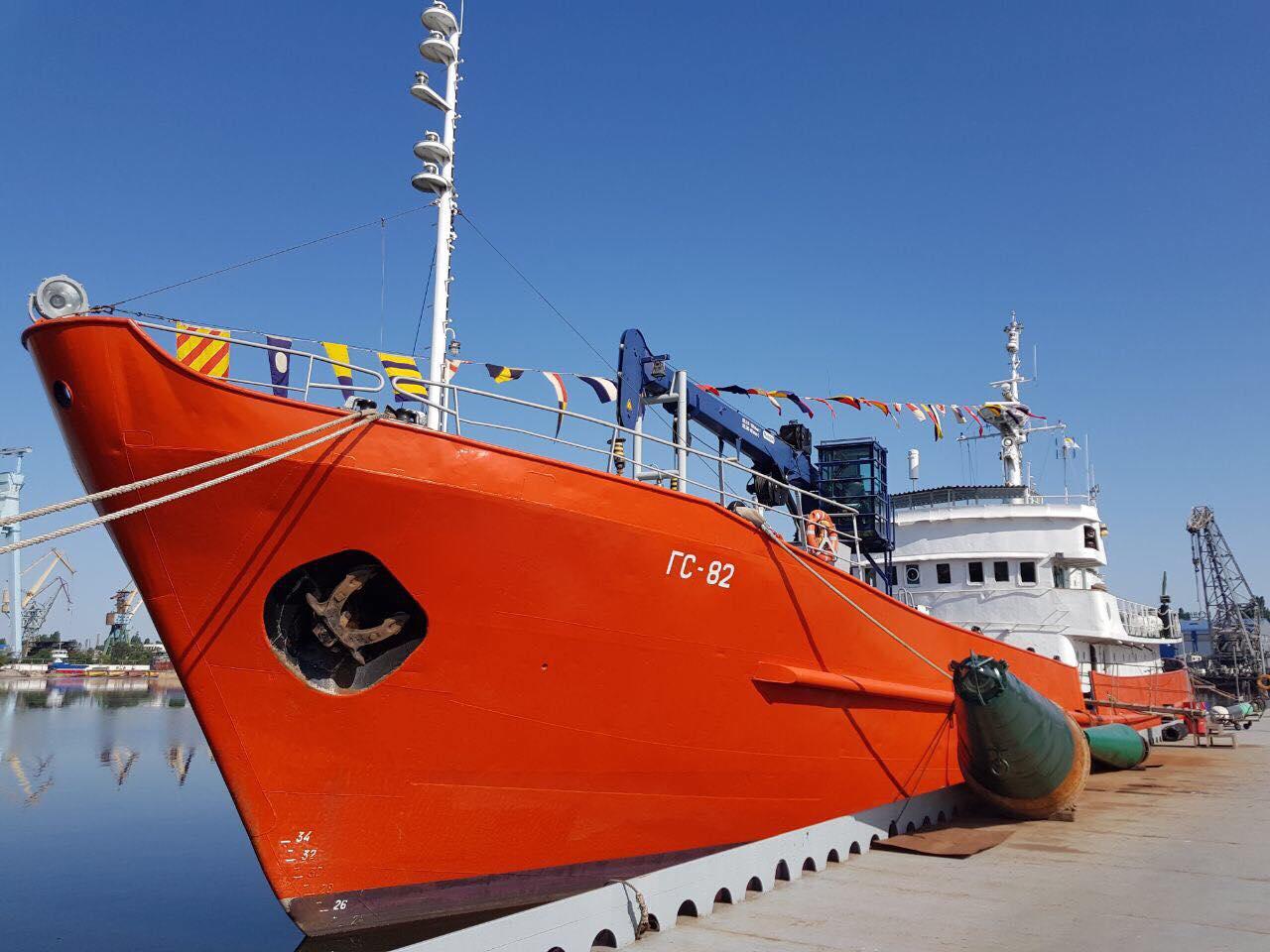 Найбільше гідрографічне судно України відсвяткувало своє 50-річчя