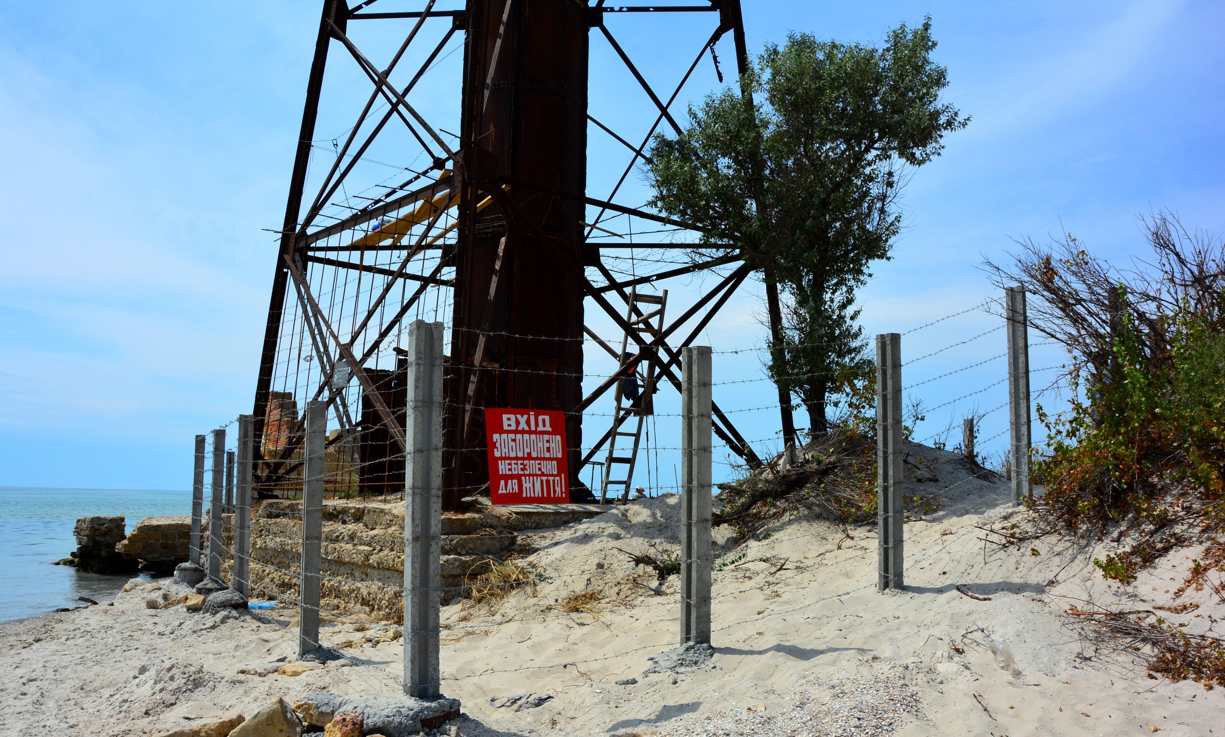 Закінчились роботи із забезпечення безпеки навколо старого Джарилгацького маяка
